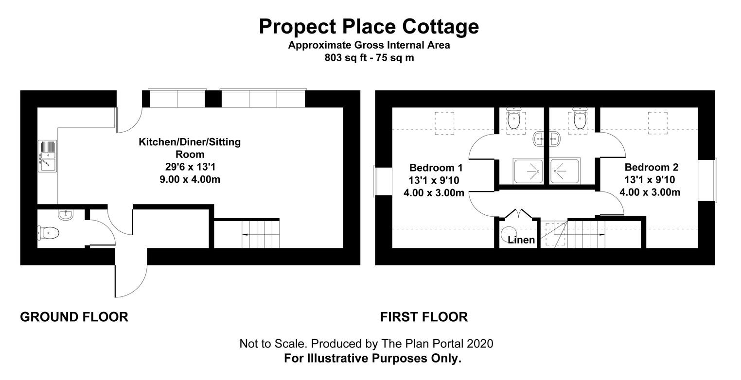 Floorplan for Prospect Place Cottage