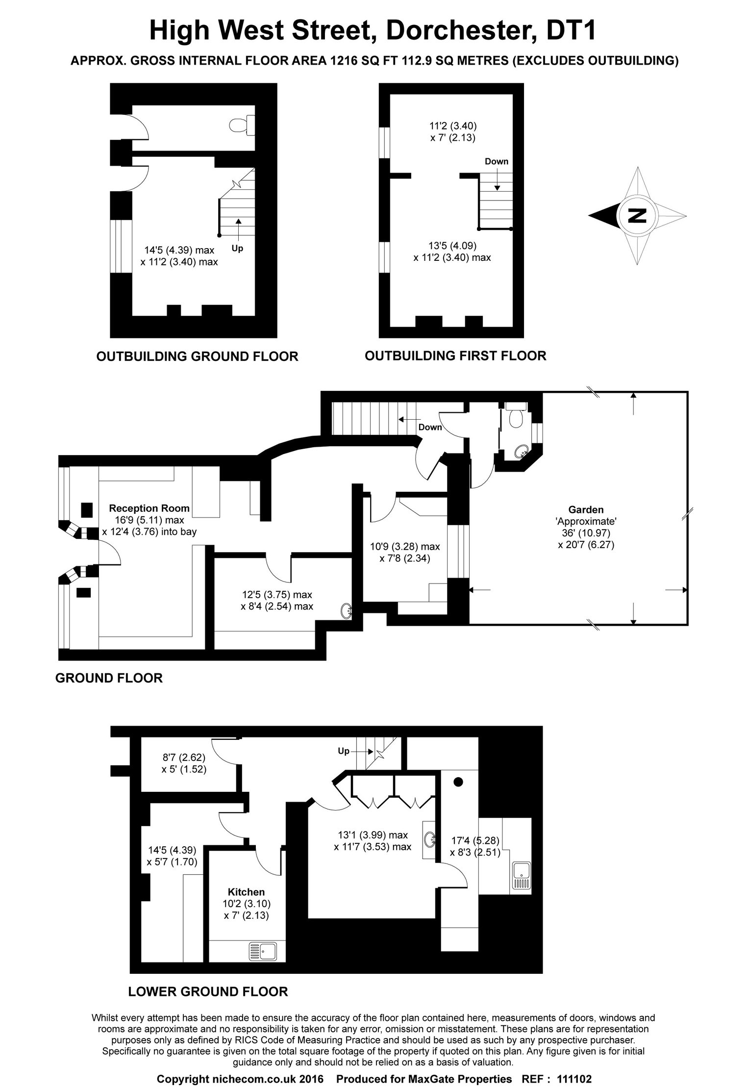 Floorplan for 9 High West Street