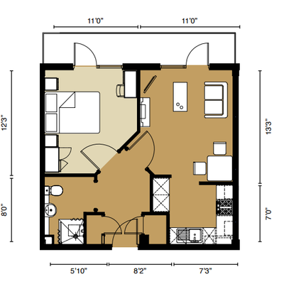 Floorplan for 34 Signature House, Brewery Square