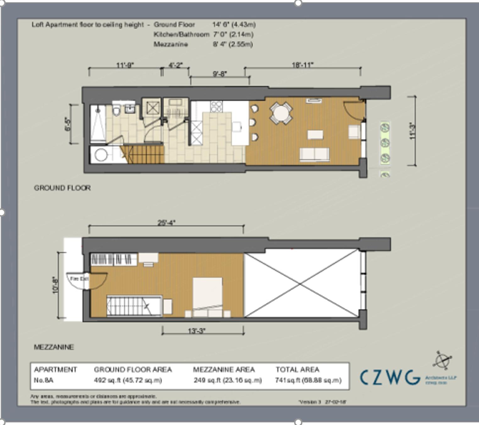 Floorplan for Eldridge Street Lofts