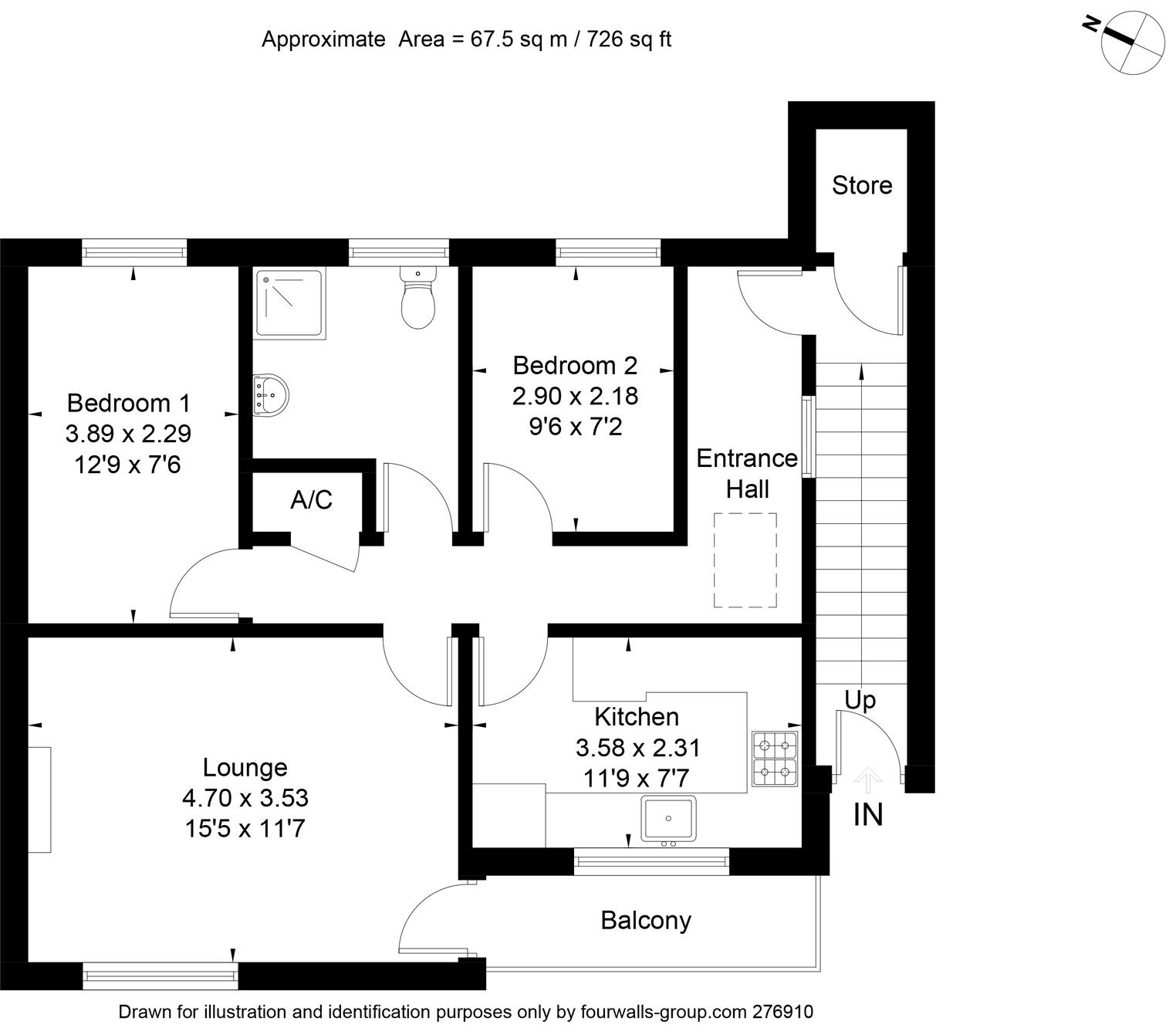 Floorplan for 25 Lime Close