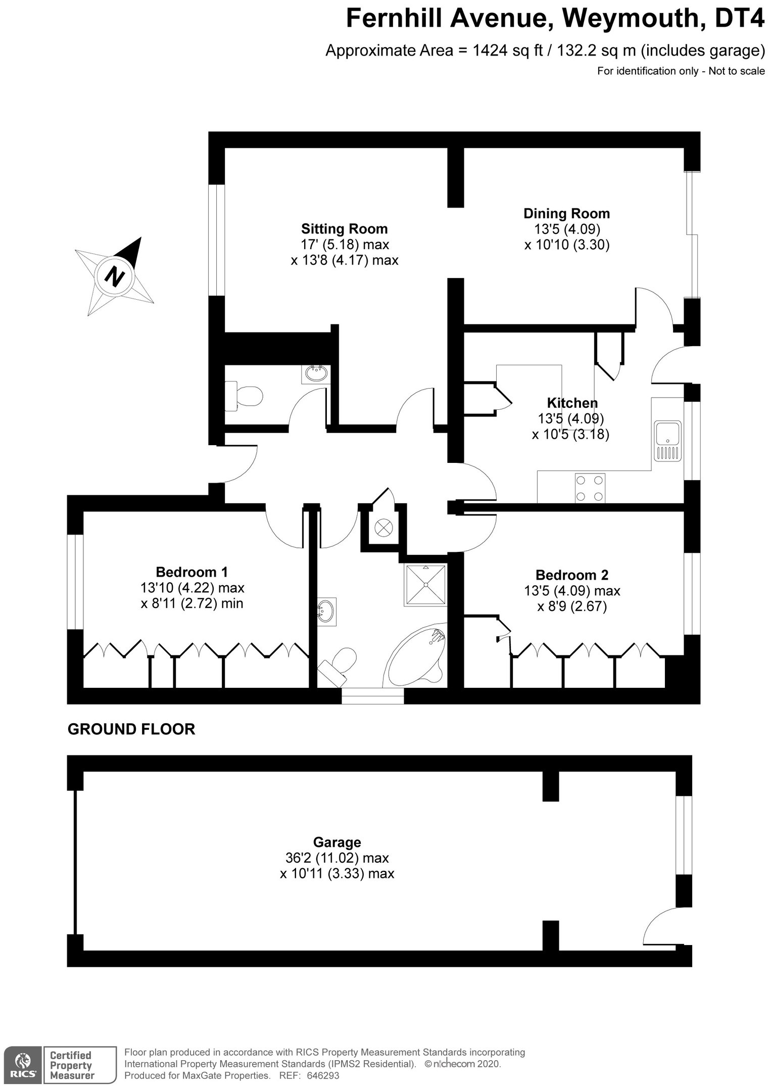 Floorplan for 30 Fernhill Avenue, Weymouth
