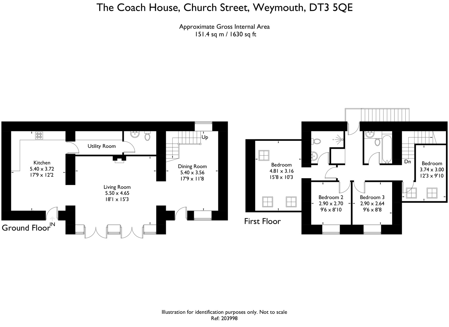 Floorplan for The Coach House