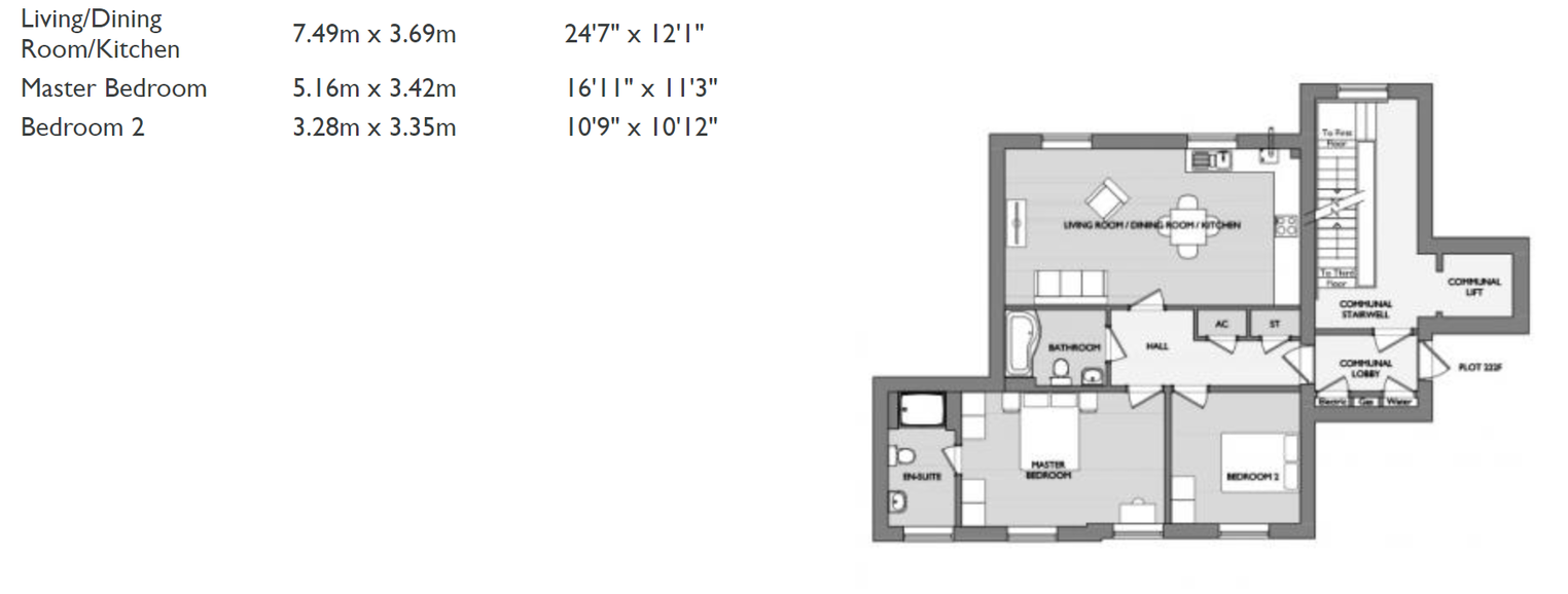 Floorplan for Flat 4, 4 Crown Place, Poundbury