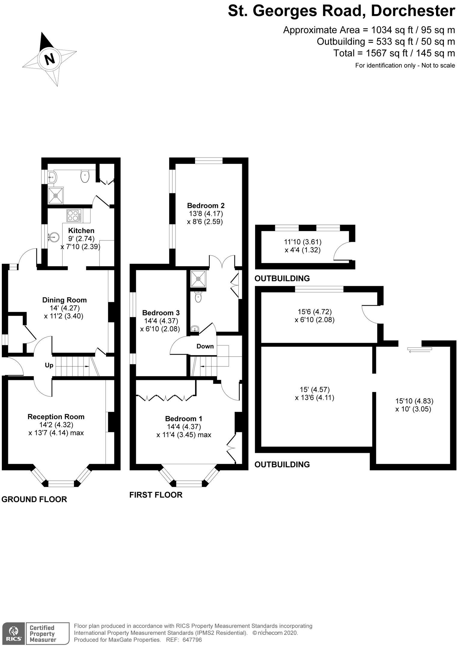 Floorplan for 13 St Georges Road, Dorchester