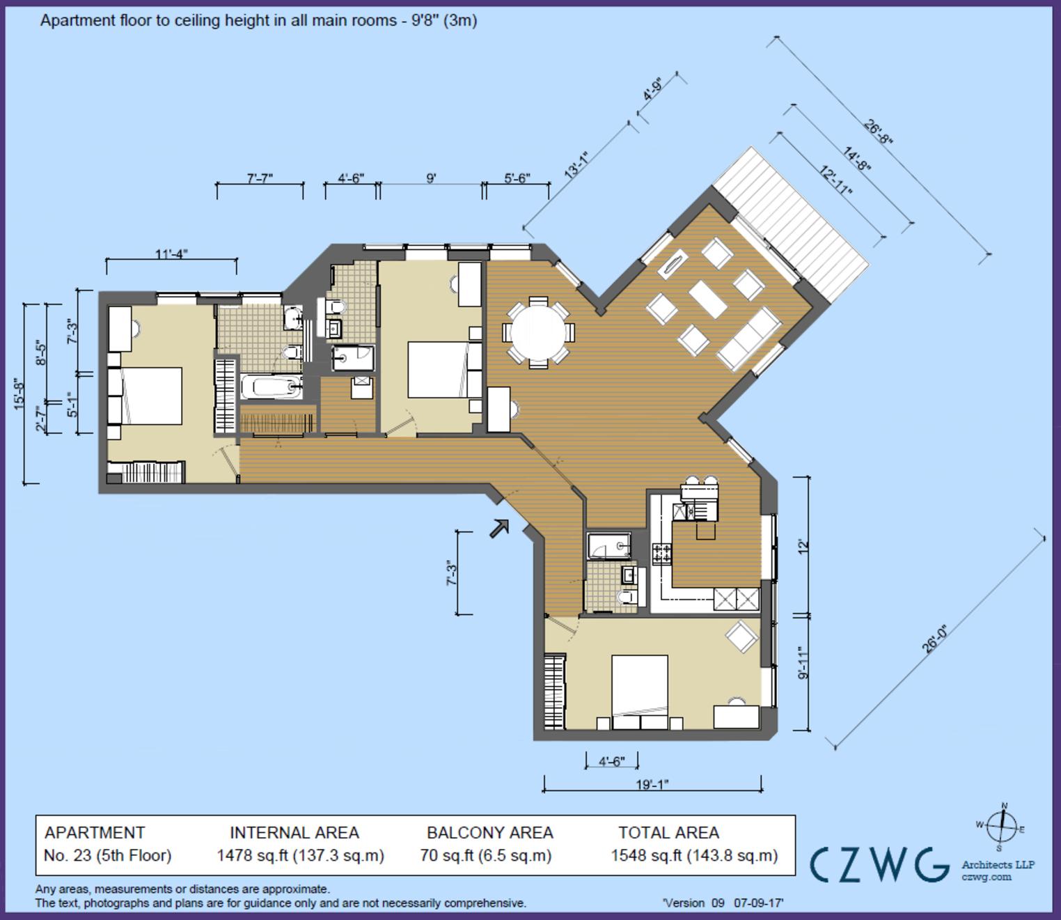 Floorplan for 23 Hop House