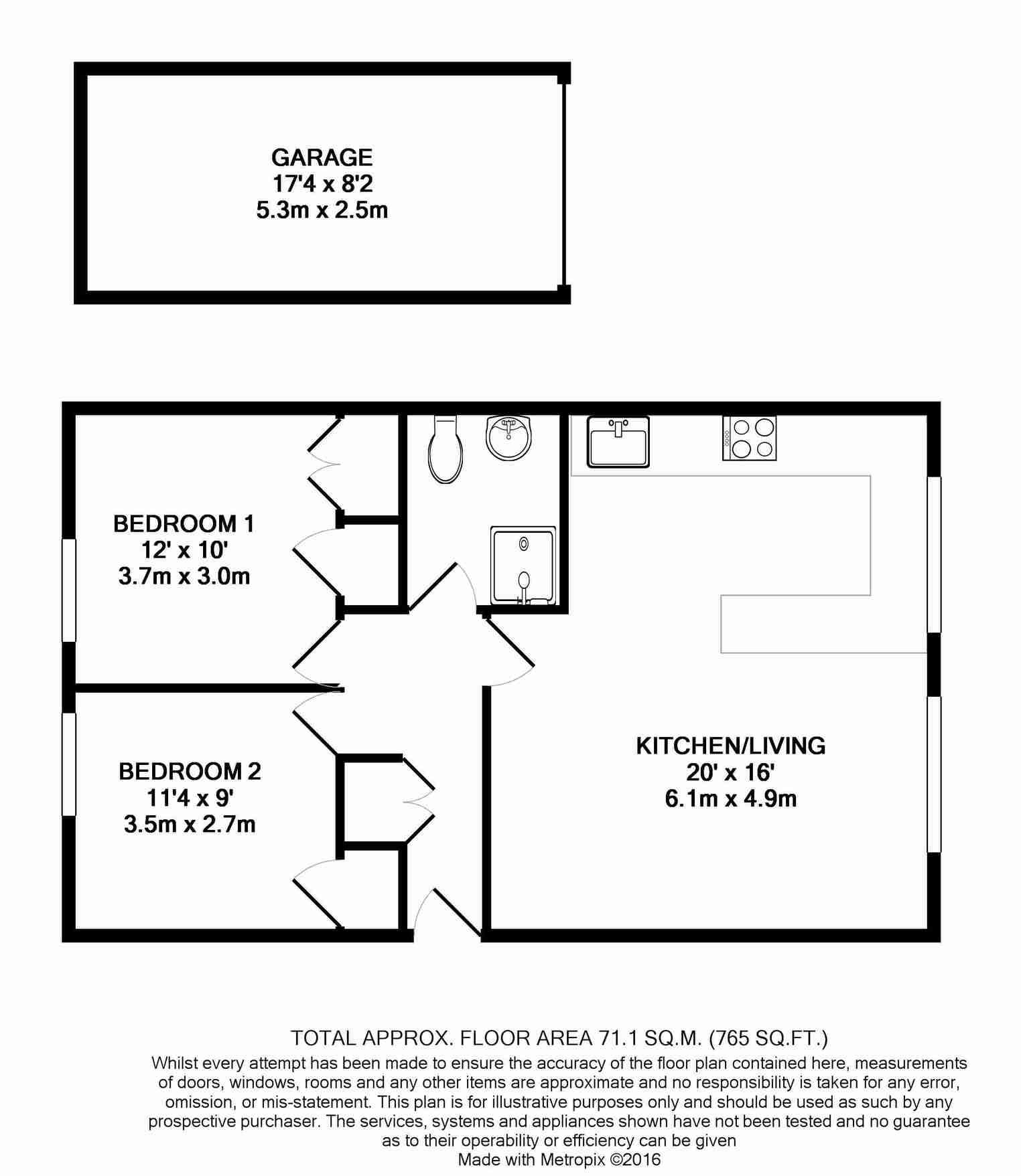 Floorplan for 44 Fourgates