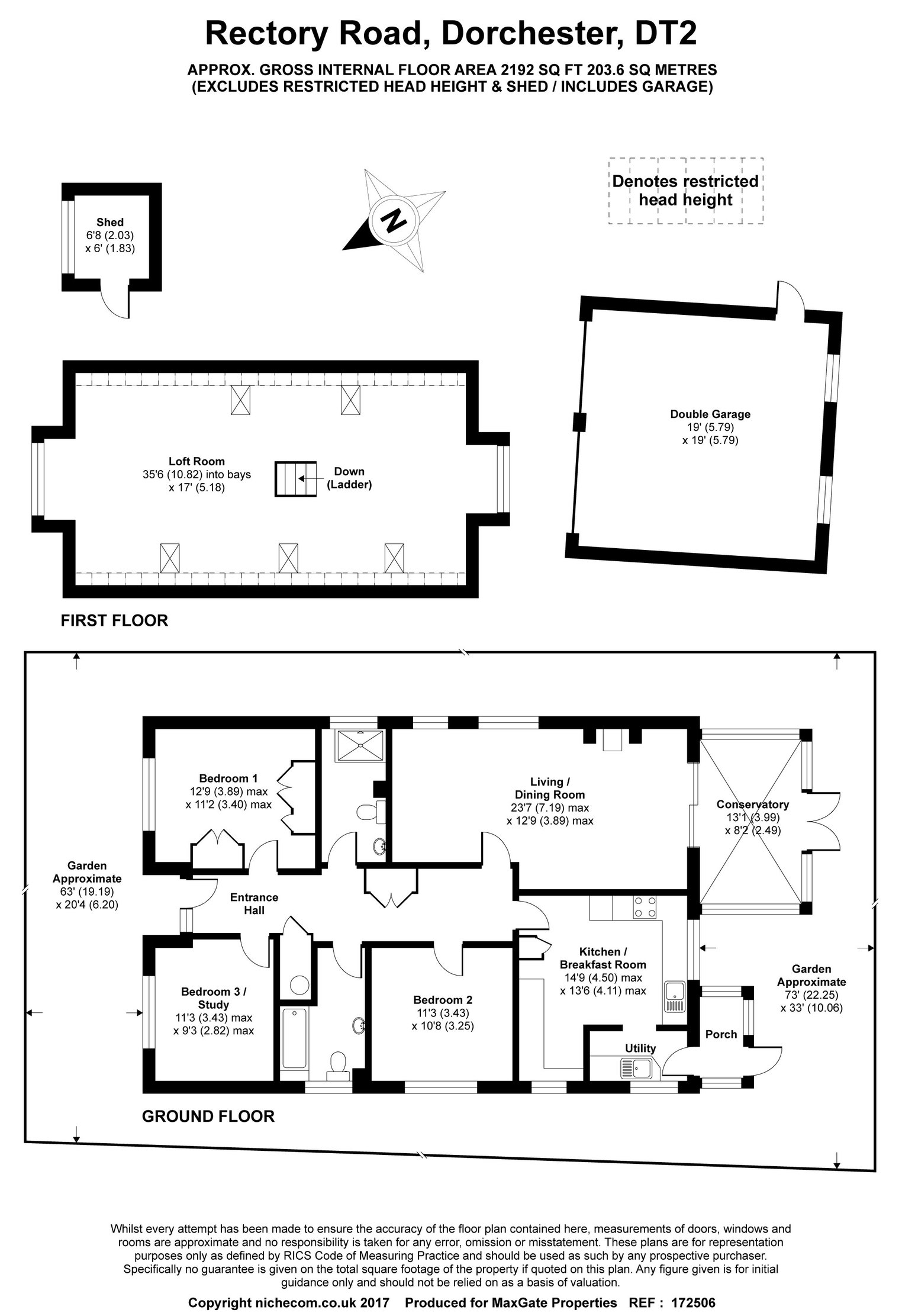 Floorplan for 20 Rectory Road
