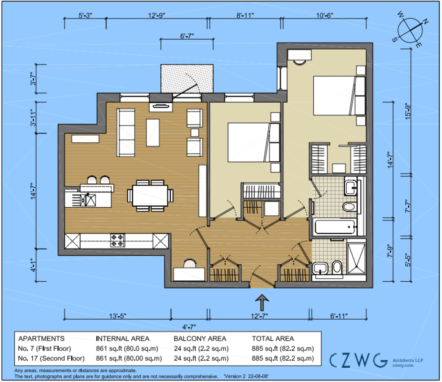 Floorplan for 17 Fairfield, Brewery Square
