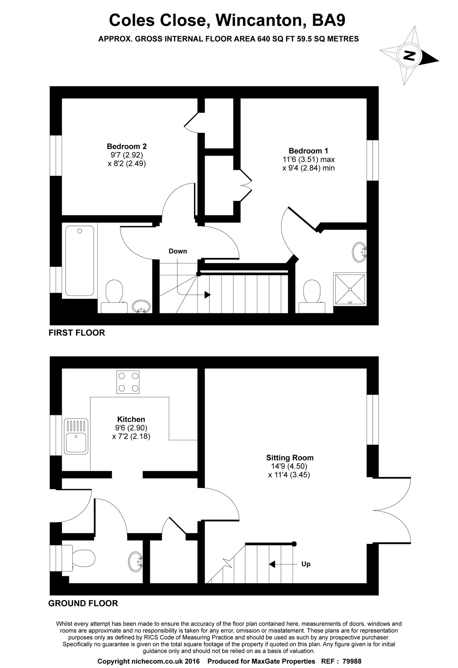 Floorplan for 24 Coles Close, Wincanton