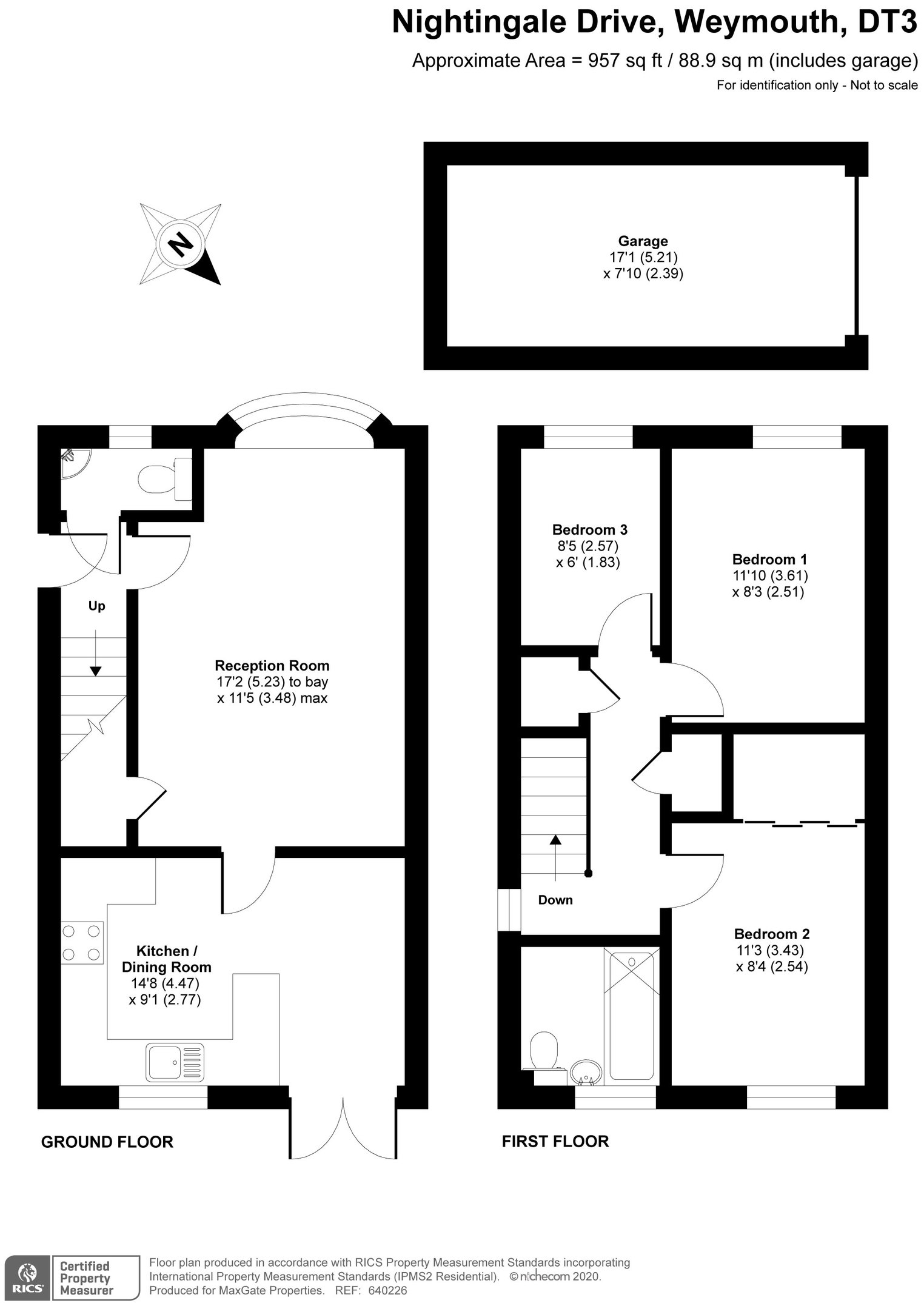 Floorplan for 24 Nightingale Drive, Weymouth