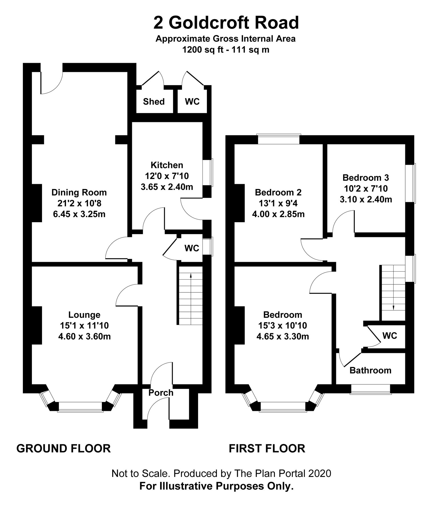 Floorplan for 2 Goldcroft Road, Weymouth
