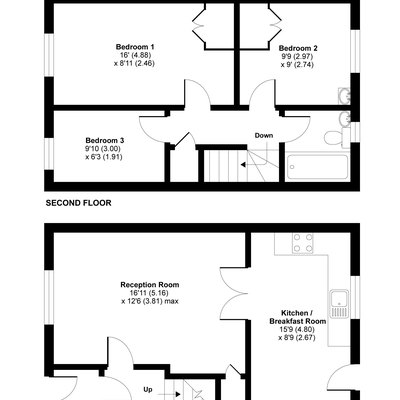 Floorplan for 13 Robins Garth