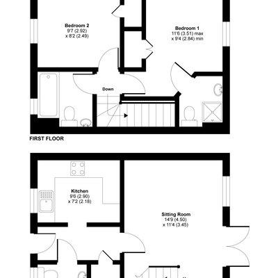 Floorplan for 24 Coles Close, Wincanton