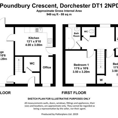 Floorplan for 18 Poundbury Crescent, Dorchester