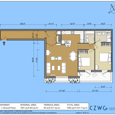 Floorplan for 1 Screen House