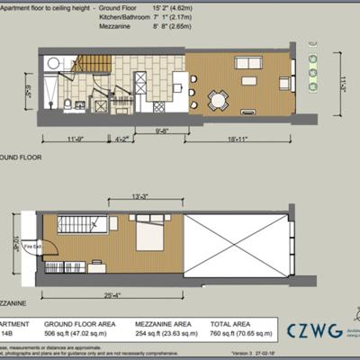 Floorplan for 14B Eldridge Street, Brewery Square