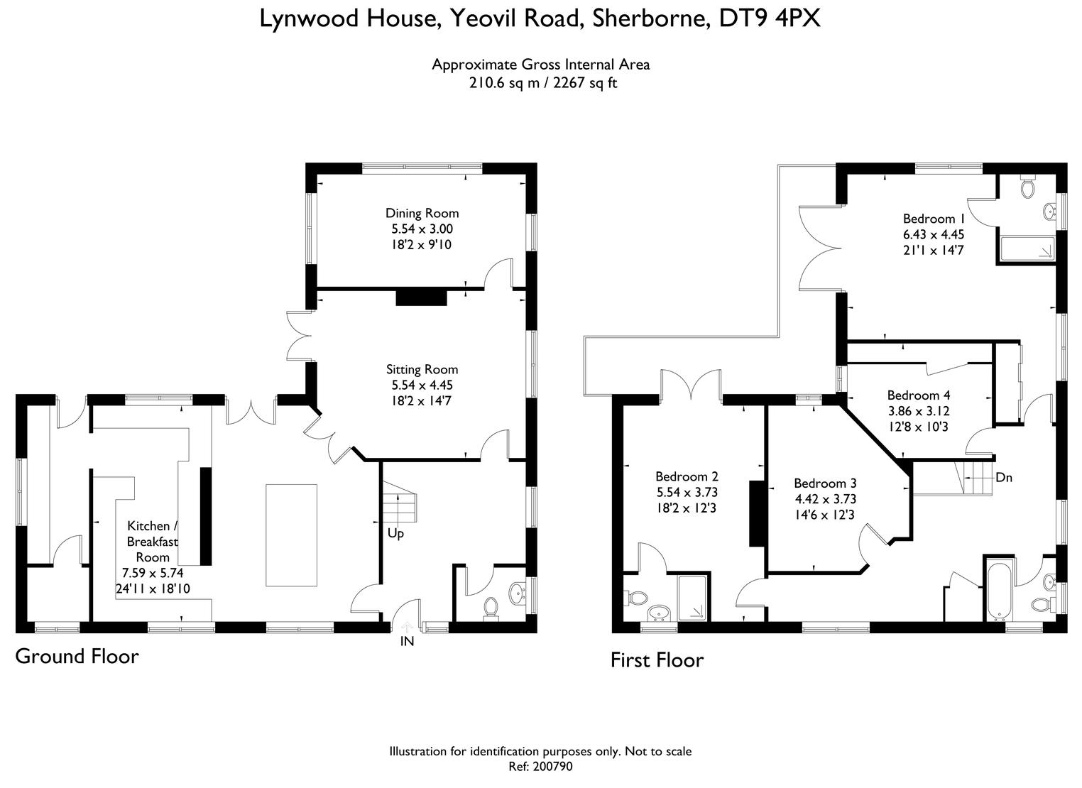 Floorplan for Lynwood House, Sherborne