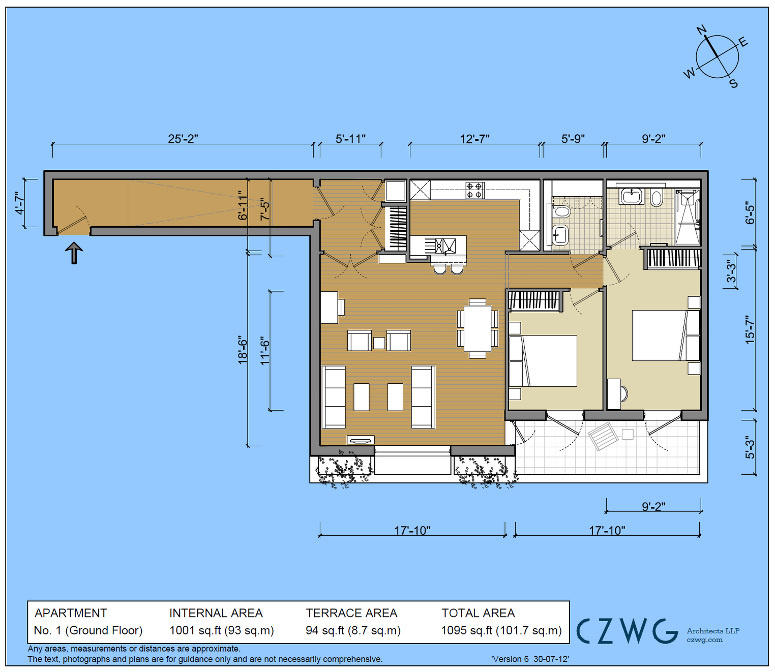 Floorplan for 1 Screen House