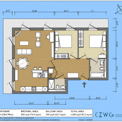 Floorplan for 4 Fairfield, Brewery Square